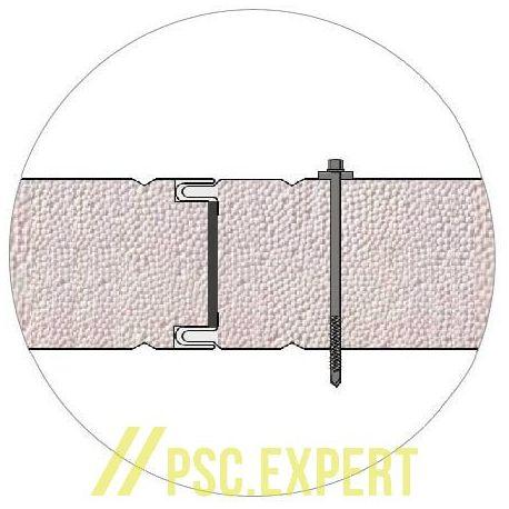 Стеновая сэндвич-панель BalexTherm с основой из полистирола