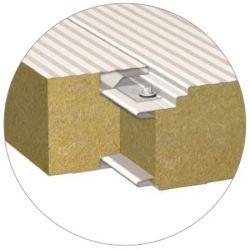 Стеновая сэндвич-панель со скрытым креплением BalexTherm с основой из базальтовой минеральной ваты в Харькове