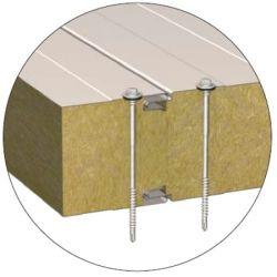 Стеновая сэндвич-панель с открытым креплением BalexTherm с основой из базальтовой минеральной ваты в Харькове