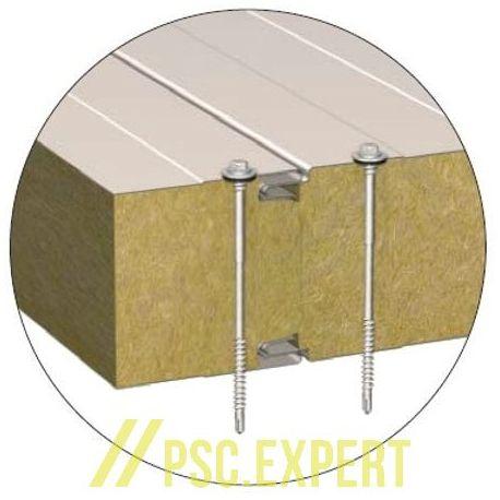 Стеновая сэндвич-панель с открытым креплением BalexTherm с основой из базальтовой минеральной ваты