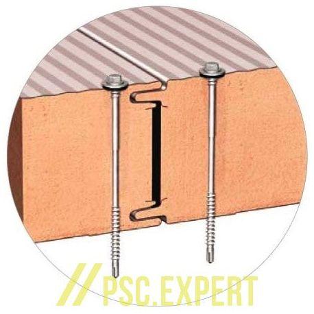 Стеновая сэндвич-панель с открытым креплением BalexTherm с основой из полиизоцианурата