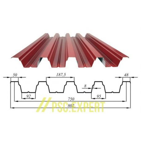 Профнастил кровельный глянцевый (ПЭ) ПК-92