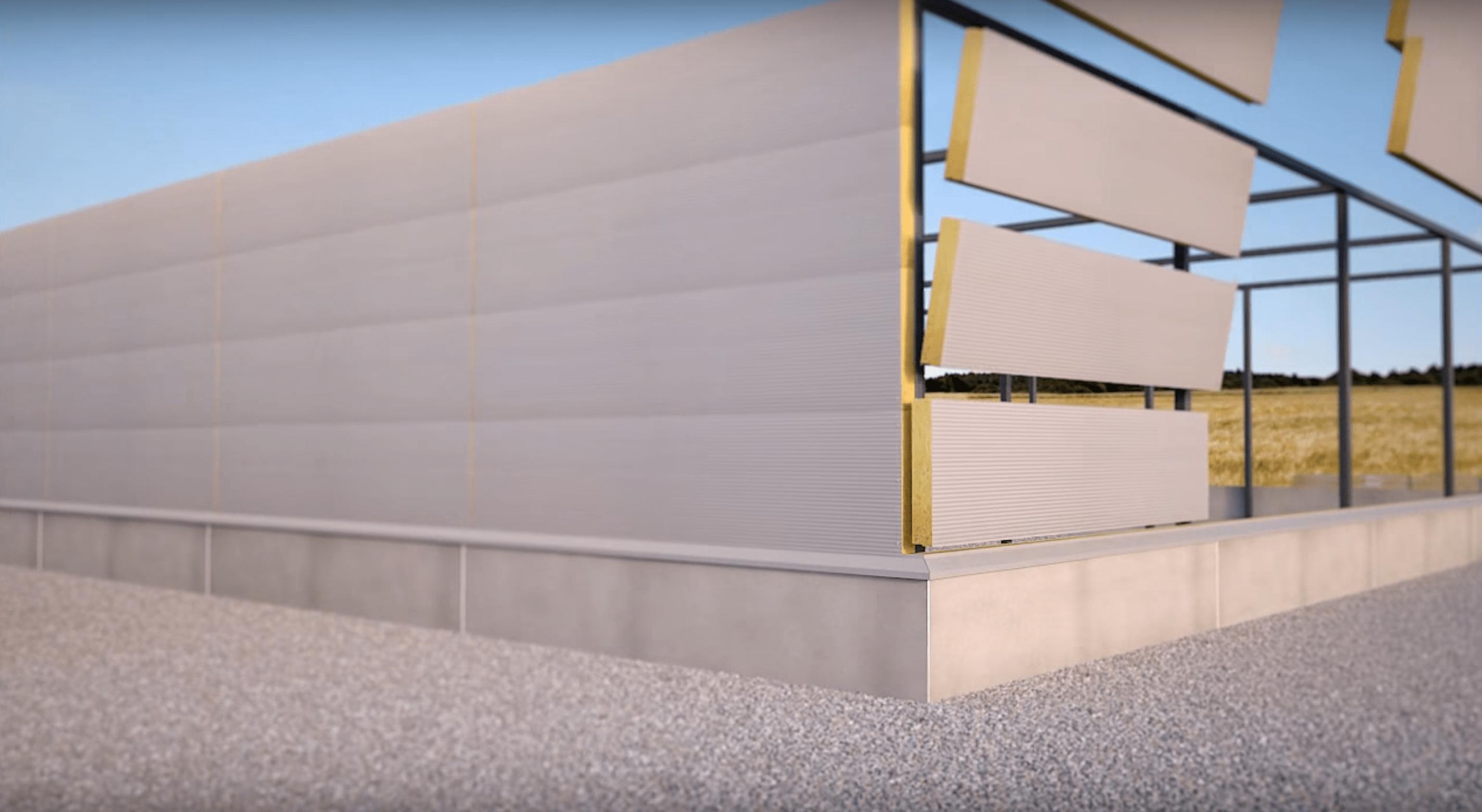 3й этап возведения конструкции сендвич-панели из базальтовой минваты